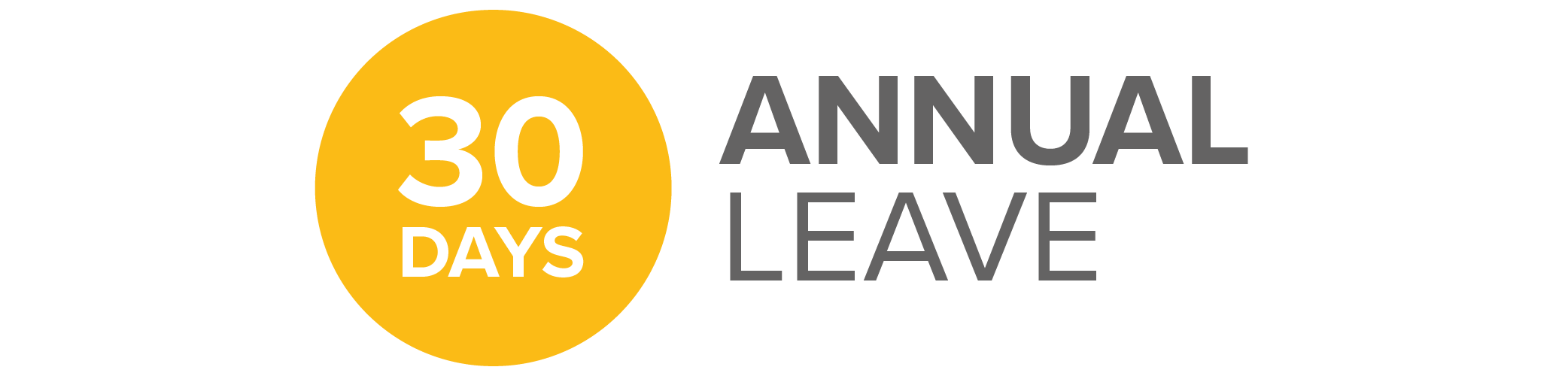 30 days annual leave